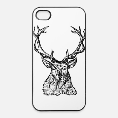 Cerf cerf renne - Coque rigide iPhone 4/4s