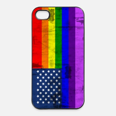 Usa rainbow - iPhone 4/4s hard case