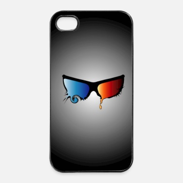 3d 3D bril psychedelic pd4 - iPhone 4/4s hard case