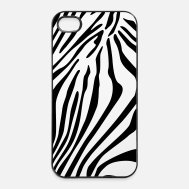 Zebra conchiglie gessati smartphone - Custodia rigida per iPhone 4/4s