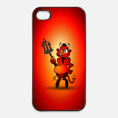 Halloween Fat red devil - iPhone 4 & 4s Case