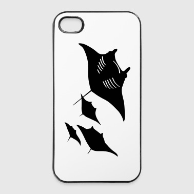 Raies manta raie plongée plongeur scuba diving poisson - Coque rigide iPhone 4/4s