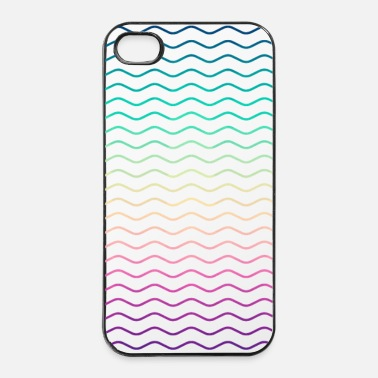 Driehoek Minimale Geometry Hipster Lines  (kleurrijke / reg - iPhone 4/4s hard case