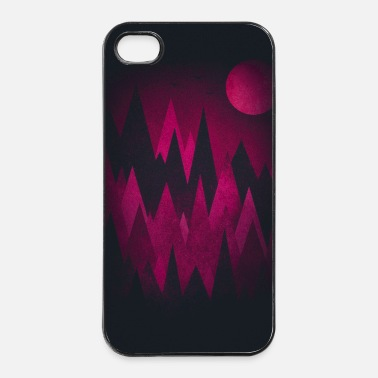 Måne Mörka trianglar Abstrakt Mountains - Phone Case - Hårt iPhone 4/4s-skal