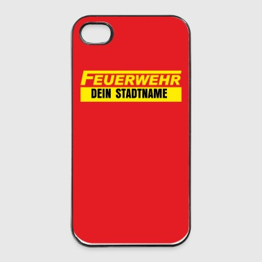 iPohne 4/4S case Feuerwehr langF - iPhone 4/4s Hard Case