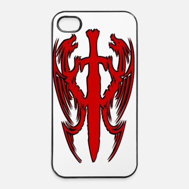 Chinois double dragon chinois - Coque rigide iPhone 4/4s
