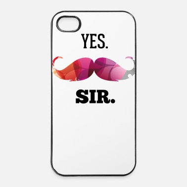 Sir Yes. Sir. Moustache. Bart - Coque rigide iPhone 4/4s