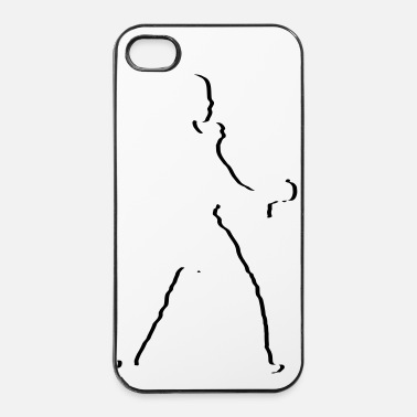 Taekwondo karate_kaempfer_stylisch_1_farbig - Coque rigide iPhone 4/4s
