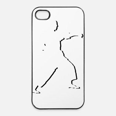 Taekwondo fighter_stylisch_1_farbig - Coque rigide iPhone 4/4s