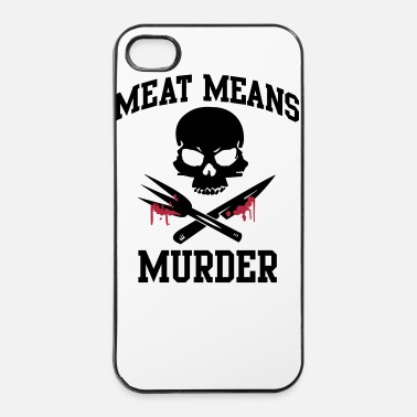 Animale Carni: omicidio - carne significa omicidio - Custodia rigida per iPhone 4/4s