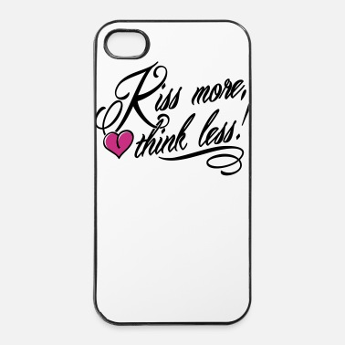 Kiss Kiss more, think less! - Coque rigide iPhone 4/4s
