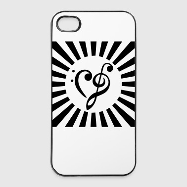 clef - cuore - Custodia rigida per iPhone 4/4s