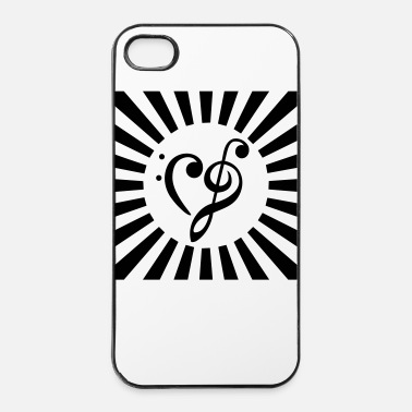 Cuore clef - cuore - Custodia rigida per iPhone 4/4s