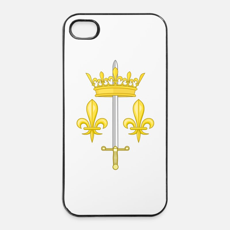Catholique Coques iPhone - Armoiries Jeanne d'Arc - Coque iPhone 4 & 4s blanc/noir