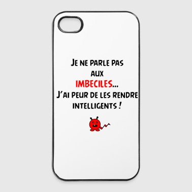 Je suis intelligent ! - Coque rigide iPhone 4/4s