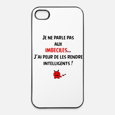 Intelligent Je suis intelligent ! - Coque rigide iPhone 4/4s
