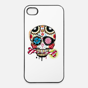 Eye Patch Skull with eye patch and candy cane - iPhone 4/4s Hard Case
