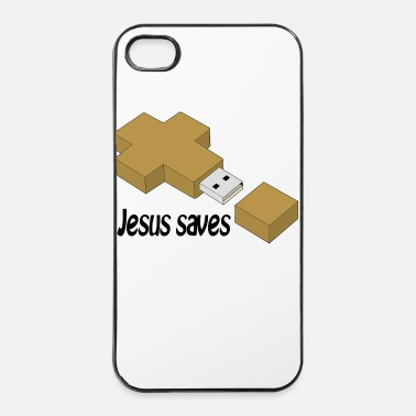 Jésus jesus saves usb - Coque rigide iPhone 4/4s