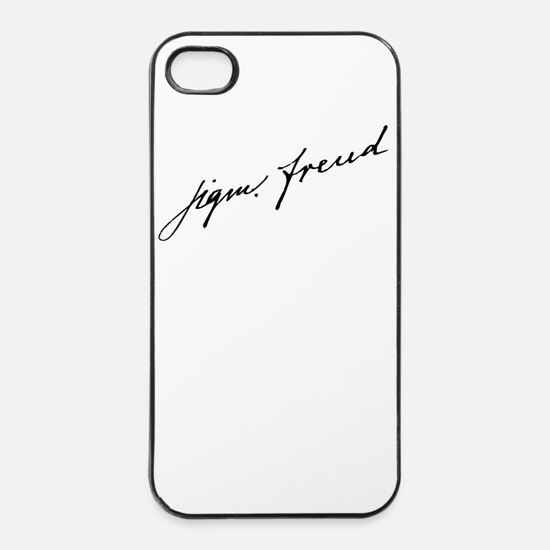 Freud Coques iPhone - Sigmund Freud - Coque iPhone 4 & 4s blanc/noir