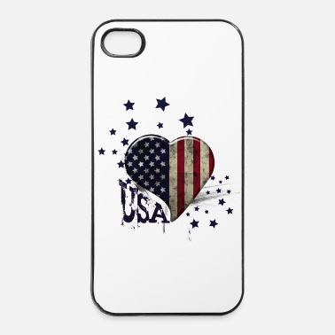 Usa usa grunge coeur étoiles  - iPhone 4/4s hard case