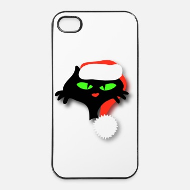 Merry Silly Christmas cat by patjila - iPhone 4 & 4s Case