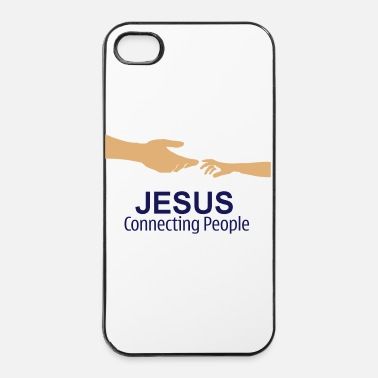 Jésus Coque I phone 4/4S Jésus connecting people - Coque rigide iPhone 4/4s