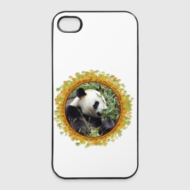 Giant panda eating bamboo in frame - Coque rigide iPhone 4/4s