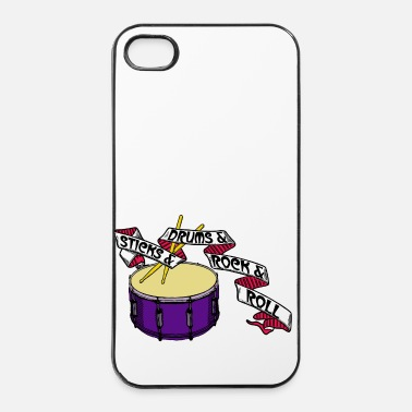 Rock N Roll Sticks And Drums And Rock And Roll - Tattoo Links - iPhone 4 & 4s Hülle