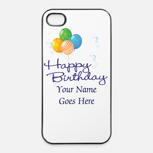 IPhone 4 4s CaseHappy Birthday With Balloons And Streamers