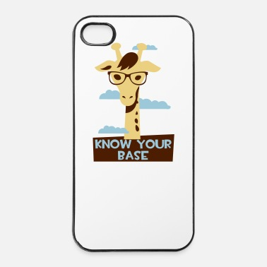 Afrika Giraffe, Know your base Hoesjes voor mobiele telefoons & tablets - iPhone 4/4s hard case