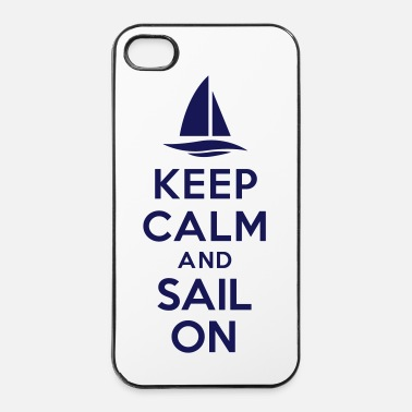 Voilier Keep calm and sail on - Coque rigide iPhone 4/4s