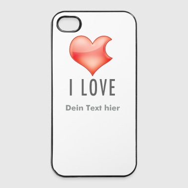 I LOVE - iPhone 4/4s Hard Case