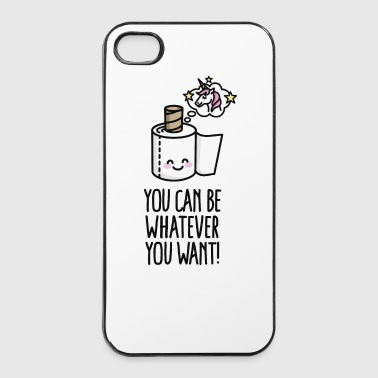 You can be whatever you want, unicorn toilet paper - Twarde etui na iPhone 4/4s