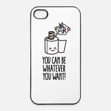 Toilette You can be whatever you want, unicorn toilet paper - Coque rigide iPhone 4/4s