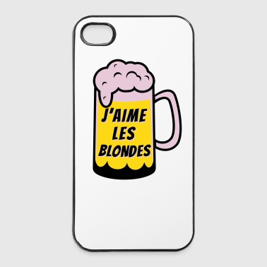 J'aime les blondes - Coque rigide iPhone 4/4s
