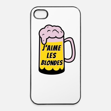Rire J'aime les blondes - Coque rigide iPhone 4/4s