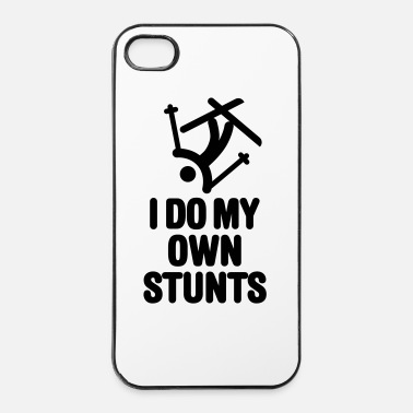 Male I do my own stunts - skiing / ski - Custodia rigida per iPhone 4/4s