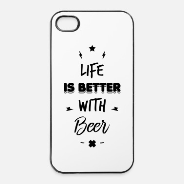 Spiaggia life is better with beer - Custodia rigida per iPhone 4/4s