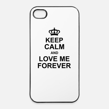 Romántico keep_calm_and_love_me_forever_g1 - Carcasa iPhone 4/4s