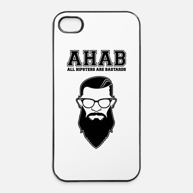 Satire ALL HIPSTERS ARE BASTARDS - Funny Parody  - Coque rigide iPhone 4/4s
