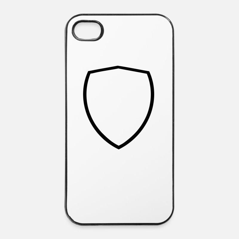 Wapenschild iPhone hoesjes - Wapenschild - iPhone 4/4s hoesje wit/zwart