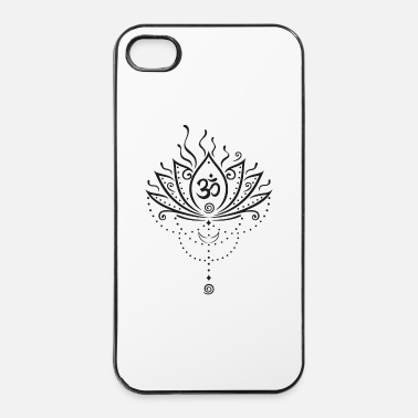 Zen Lotusbloem, zwarte versie - iPhone 4/4s hard case