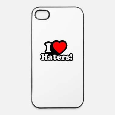 Satire I LOVE HATERS - I LOVE ENVY - Coque rigide iPhone 4/4s