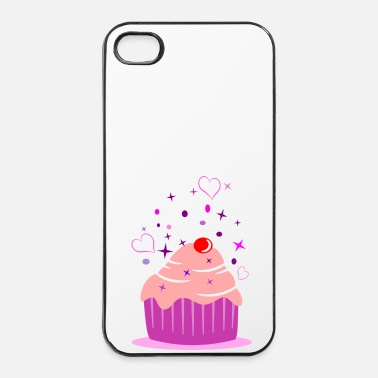 Taart Sweet cupcake muffin cake met hart - iPhone 4/4s hard case