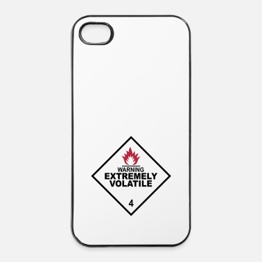 Radioactif warning extremely volatile square I 2c - Coque rigide iPhone 4/4s