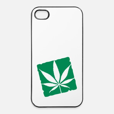 Trance weed leaf boxed - Coque rigide iPhone 4/4s
