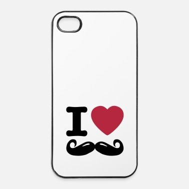 Bart i love moustache - iPhone 4/4s hard case
