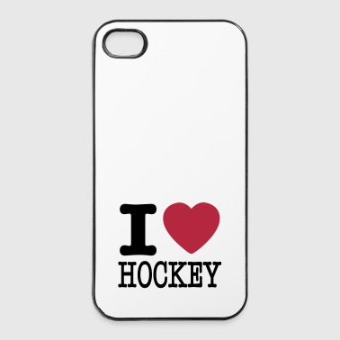 i love hockey / I heart hockey - iPhone 4/4s Hard Case