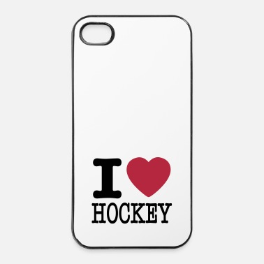 Hockey i love hockey / I heart hockey - Custodia rigida per iPhone 4/4s