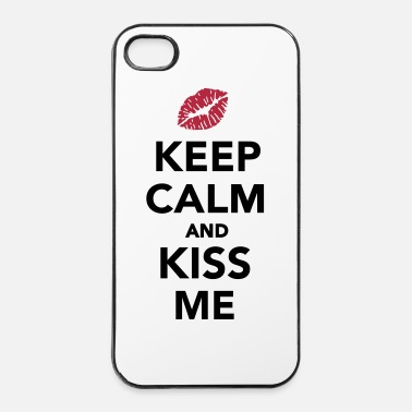 Kiss Keep calm and kiss me - iPhone 4 & 4s Hülle